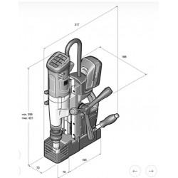 Máquina de furar com base magnética FEIN AKBU 35 PMQ SELECT