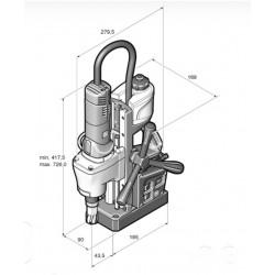 Máquina de furar com base magnética FEIN KBE 35 ECO