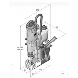 Máquina de furar com base magnética FEIN KBU 35 QW