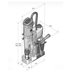 Máquina de furar com base magnética FEIN KBU 35 MQW