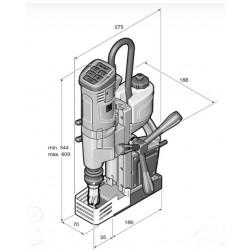 Máquina de furar com base magnética FEIN KBU 35-2 Q