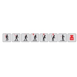 Kit arnês de segurança para andaime MAS de 3 peças